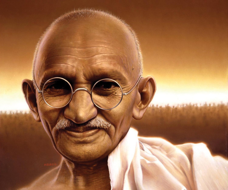 Remember Gandhi now